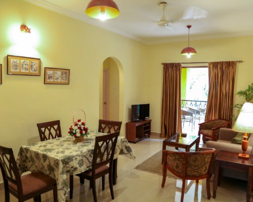 Casa Candolina Goa (Service Apartment in Goa for rent) - Living Area